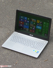 The Asus N550JV outside