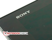 The Sony logo is the only design element on the front side.