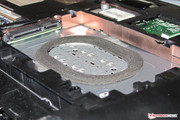There is a shock-absorbing rubber ring beneath the hard drive.