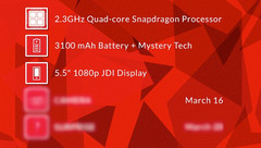 OnePlus One smartphone with CyanogenMod Full HD 5.5-inch display and quad-core Snapdragon