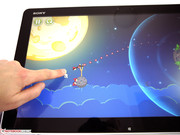 Games and other software that support finger gestures are fairly scarce compared with Android or OS.