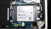 2.5-inch SATA drive is easily accessable
