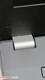 The hinges hold the lid tightly in place.