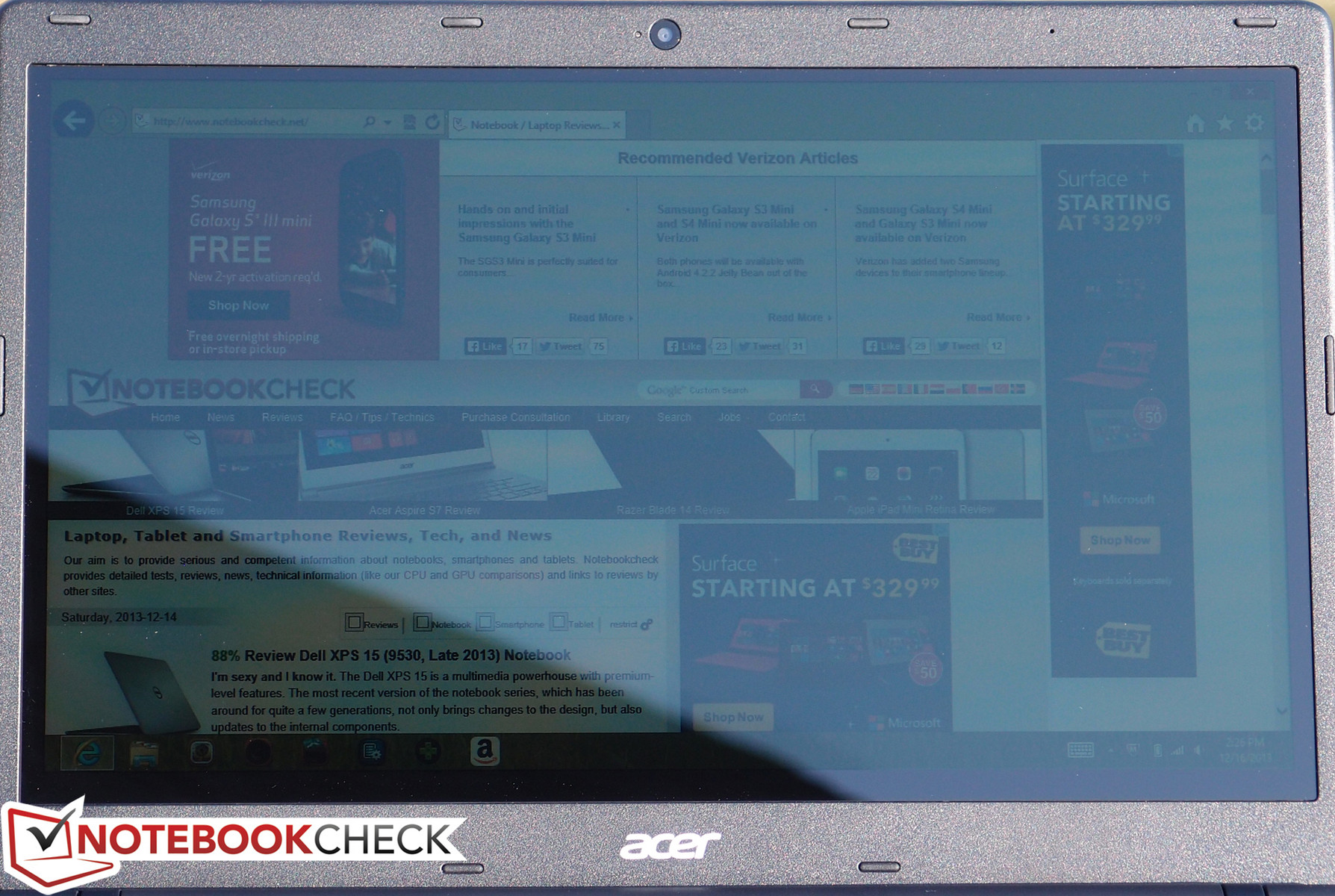 review acer aspire e p notebook net reviews in the sun