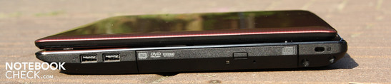 Right side: 2 x USB 2.0, DVD-burner