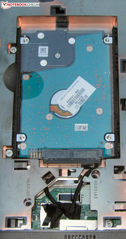 The hard drive can be swapped out.