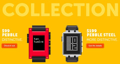 Pebble smartwatch Collection prices in early October 2014