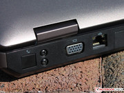The VGA and Ethernet ports are located on the back side.