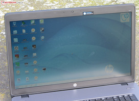 HP's ProBook 470 outdoors