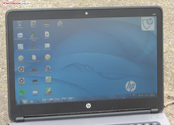 The ProBook 645 outdoors.