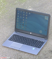 The ProBook outdoors.