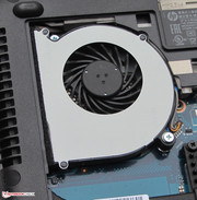The fan can be removed for cleaning.