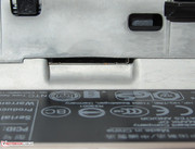 The SIM card slot is located in the battery compartment.