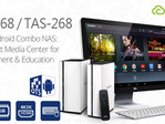 QNAP TAS-168 and TAS-268 multimedia NAS with QTS/Android dual system support