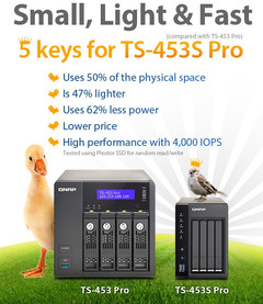 QNAP TS-453 Pro and TS-453S Pro high-performance 2.5-inch SSD NAS