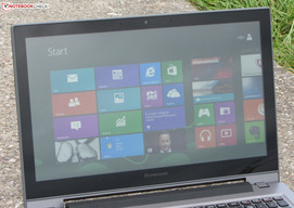 The IdeaPad S500 outdoors (image taken with thick cloud cover).