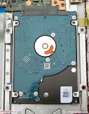 The hard drive can be replaced.