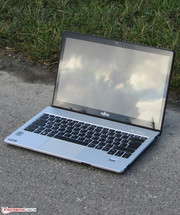 The Lifebook outdoors.
