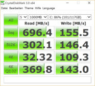 CrystalDiskMark NVMe 128 GB Update