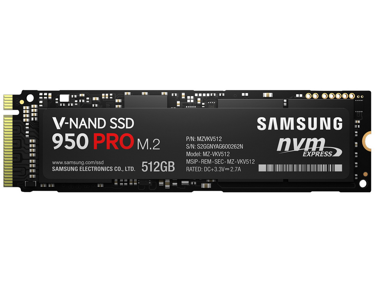 samsung ssd 950 pro now available in m 2 form factor