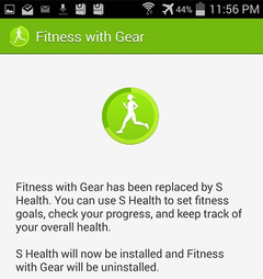Samsung pulls out Fitness with Gear app