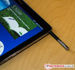 The S-Pen is a great tool for interfacing with the tablet.