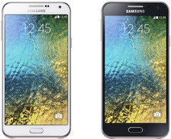 Samsung Galaxy E7 and Galaxy E5 Android smartphones with quad-core processor and Super AMOLED display