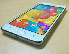 Samsung Galaxy Grand Prime with Qualcomm Snapdragon 400 and 5 MP front-facing camera