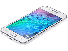Samsung Galaxy J1 Android smartphone with 4.3-inch display and dual-core processor