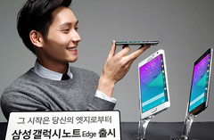 Samsung Galaxy Note Edge Android phablet with curved Super AMOLED display and Exynos processor