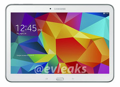 Samsung Galaxy Tab 4 10.1 Android tablet, white version leaked by evleaks