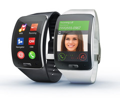 Samsung Gear S Tizen smartwatch with Super AMOLED display