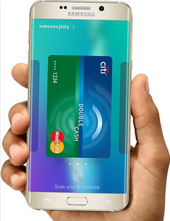 Samsung Pay service on Galaxy S6 Android flagship device