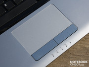 The touchpad doesn't completely manage to hide fingerprint marks.