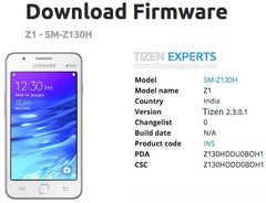 Samsung Z1 Tizen OS update with minor changes in India