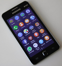 Samsung Z1 smartphone, direct predecessor of upcoming Z3