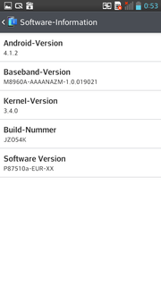 Android 4.1.2. is pre-installed.
