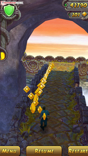 Temple Run 2 is great on the large screen.