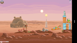 Angry Birds Star Wars on the go.