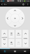 HTC Sense TV: Clear layout of the remote.
