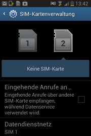 It is easy to switch between the two SIM cards under Android