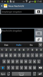 The software keyboard has been revamped as well, including a dedicated row for the numbers. Handwriting recognition or voice dictation are alternatives.