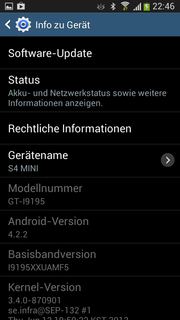 Samsung employs the current Android 4.2.2 as their operating system.