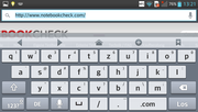 Not much free space in landscape mode if the keyboard is expanded.