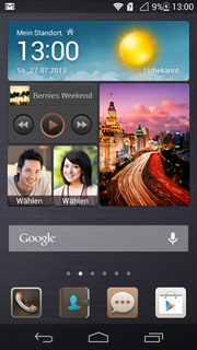 The centerpiece is this widget that can be extensively configured. This is the dark design.