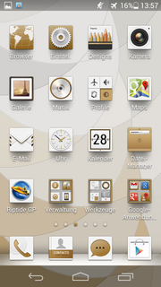 The icons for the preinstalled apps also change with the themes.