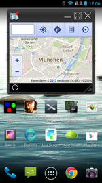 Multitasking: some apps, here Maps, can be launched in their own window.