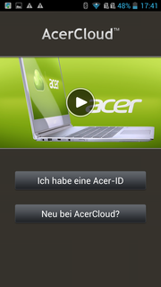 Acer Cloud is another cloud service like Google Drive.