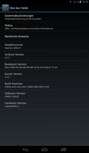 Android 4.2.2 comes on the A3000 without much bloatware.
