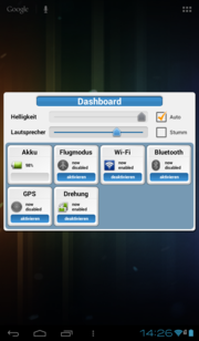 All important functions are available in the Dashboard app.